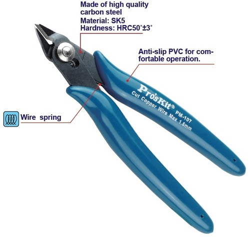 Proskit PM-107 Side Cutting Plier (130mm)