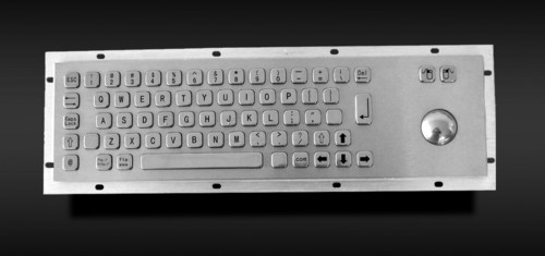 Metal Keyboard With Trackball