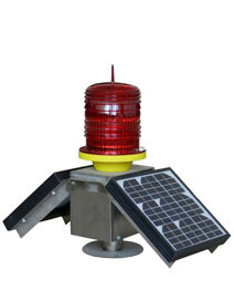 Double Solar Panels Aviation Obstruction Warning Light