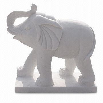White Elephant Animal Sculpture