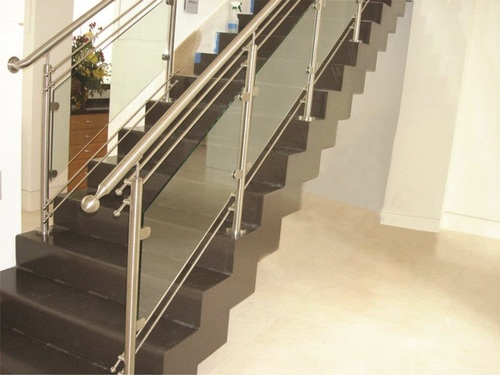 New design stainless steel stair railing in patparganj - Steel stair railing design ...