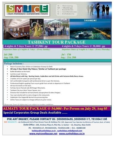 Tashkent Tour Operators In Delhi