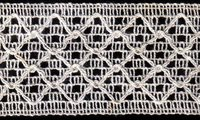 White Mechanized Cotton Lace