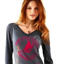 Embroidered V Necked T-Shirt
