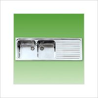 Double Sink With Drain Board