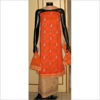 Orange Embroidered Suit