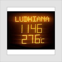 Time & Temperature Display Boards