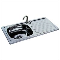 SINGLE SINK WITH DRAIN BOARD