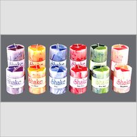 SHAKE LINE PILLAR CANDLE