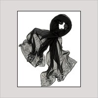 Silk Black Stoles