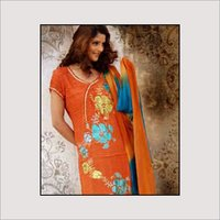 Georgette Shimmer Print Suit