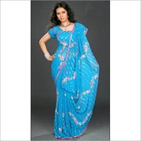 Multi Color Stone Work Saree
