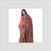 Polyester Embroidery Saree