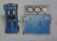 Compression Testing Machine With Three Pressure Gauges