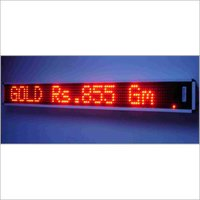 Electronic Moving Sign Display