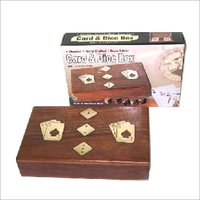 Sheesham Wood Double Cards Dice