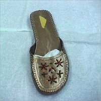 Leather Embroidered Slippers