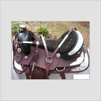 Western Saddle With Silver Fitting