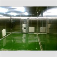 MODULAR STAINLESS STEEL WALL WITH EPOXY FLOORING