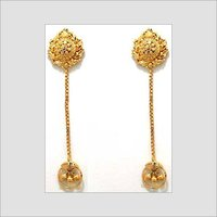 Gold Dangle Hand Crafted Earrings
