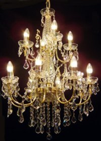 Brass Italian 12LP Chandelier