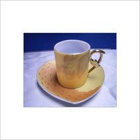Porcelain Coffee Cup and Saucer Set