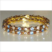 Brass Diamond Bangles