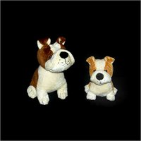 Sitting Bull Dog Soft Toys