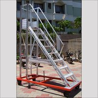 Aluminium Wide Steps Ladder Trolley