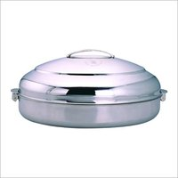 Oval Casserole With Metal Locks & Handle