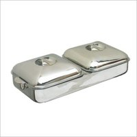 Gemini Twin Casserole Rectangular With Metal Locks & Handle