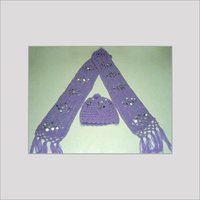 Acrylic Wool Stoles With Cap