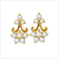 GOLD PLATED DIAMOND EARRINGS