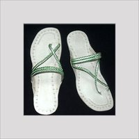 Mat Cross Strip Kolhapuri Chappals