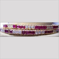 DESIGNER COLORFUL DIAMOND BANGLES