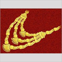 Tri-Pendant Gold Chain