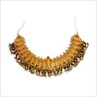 Ruby Studded Gold Necklaces