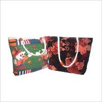 Jute Velvet Shopping Bags