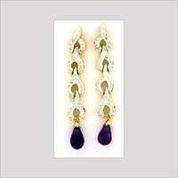 Diamond Studded Beaded Earrings