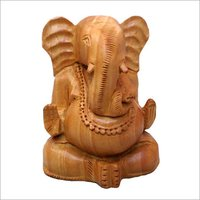 Wooden Ganesha Statues