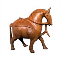 Wooden Horse Statues
