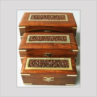 Set Of Three Wooden Jewellery Box
