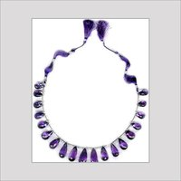 Amethyst Faceted Drops Necklace
