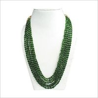Chrome-Di-Opside Oval Necklace