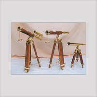 DESIGNER BRASS TELESCOPE
