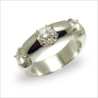 3 Stone Solitaire Band