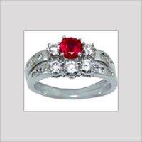 Silver Diamond Studded Rings