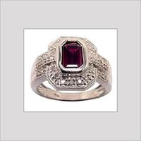 Gemstone Studded Diamond Rings