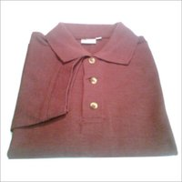 Cotton Maroon Melange T-shirt