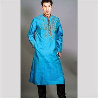 Silk Embroidered Kurta